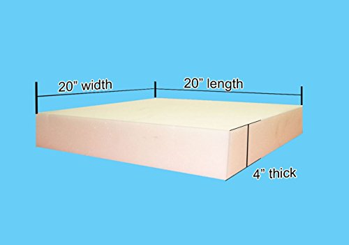 "4"" x 20""x 20"" Upholstery Foam Cushion Medium Density (Seat Replacement , Upholstery Sheet , Foam Padding)"