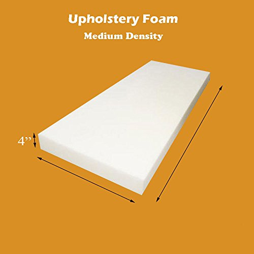 "4"" x 24"" x 72"" Upholstery Foam Cushion (Seat Replacement , Upholstery Sheet , Foam Padding)"
