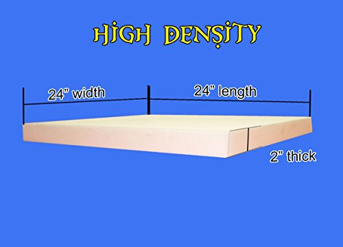 "Upholstery Foam High Density Foam Sheet 2"" x 24"" x 24"""