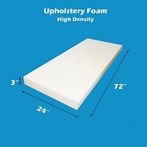 "3"" x 24"" x 72"" Upholstery Foam High Density Foam Sheet"