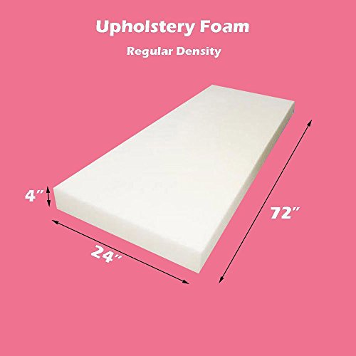 "Upholstery Foam Regular Density Foam Sheet 4"" x 24"" x 72"""