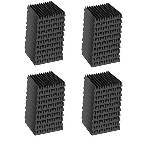 """48 Pack 12"""" X 12"""" X 1"""" Acoustic Wedge Studio Soundproofing Foam Wall Tiles (48 Square Feet)"""