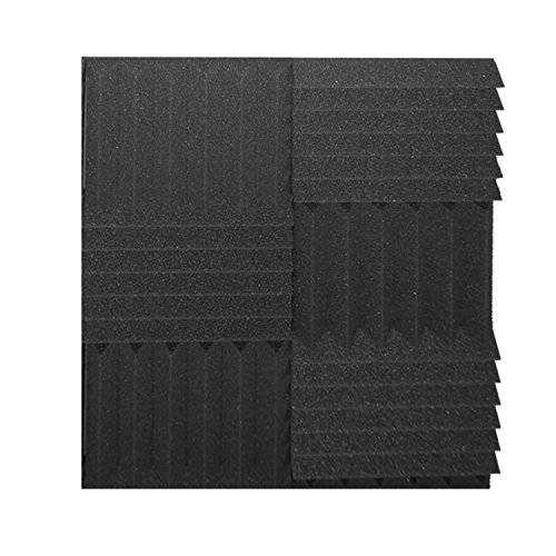 "6 Pack Acoustic Wedge Studio Soundproofing Foam Wall Tiles 24"" X 24"" X 3"" (High Quality)"