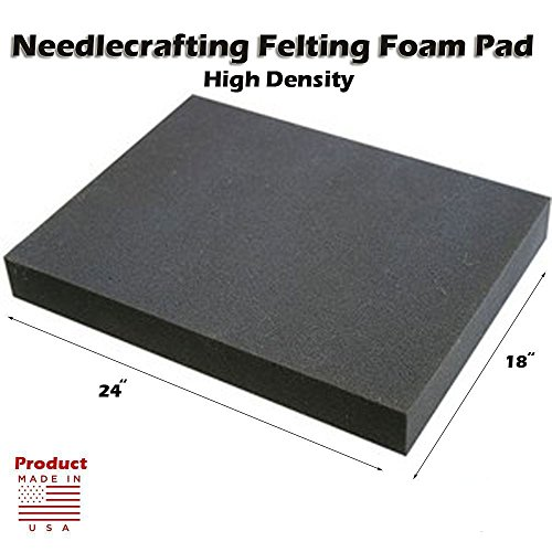 "Dense Foam Needle Felting Pad - 18"" x 24"" x 2"