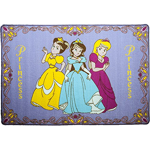 "3 Princess Area Rug 3'3"" x 4'9"" non slip gel backing"