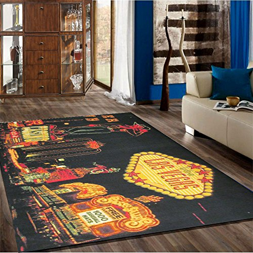Welcome USA Viva Las Vegas 5' x 8' Area Rug
