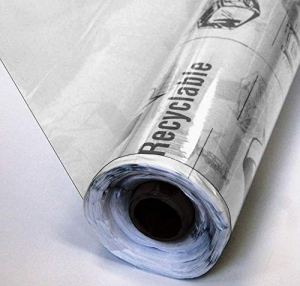 "Clear Marine Vinyl - 54""- 4 Gauge: 25 Yards Wide Sold by The Roll"