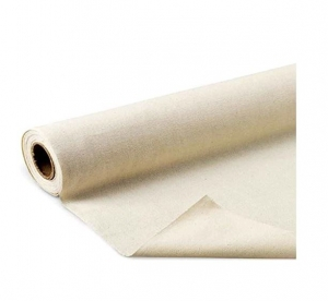 "Mybecca Unprimed Cotton Canvas Fabric 7oz Natural Duck Cloth 63"" Wide, (10 Yards)"
