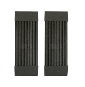 "2 Pack - Decorative Acoustic Panels Studio Soundproofing Foam Wedges Wall Panels provide Baffle Kit 3"" X 12"" X 24"" Made in Usa"