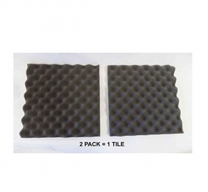 4 PACK Acoustic Eggcrate Design Soundproofing Wall Tiles 12 X 12 X 2 inch, Made in USA