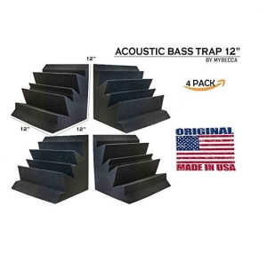 4 PACK BASS TRAP Acoustic Foam for Low Frequency Waves Studio Soundproofing, 12 X 12 X 12