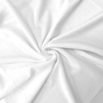 Stretch Velvet Fabric White 60'' Wide by the Yard for Sewing Apparel Costumes Craft
