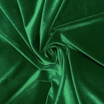 Stretch Velvet Fabric Kelly Green 60'' Wide by the Yard for Sewing Apparel Costumes Craft