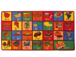 Kids Rug ABC Fruit Area Rug 5 Ft. x 7 Ft. + Free Shipping