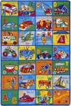Educational Kids Rug ABC Transportation Area Rug 5 Ft. x 7 Ft.