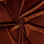 Stretch Velvet Fabric Rust 60'' Wide by the Yard for Sewing Apparel Costumes Craft