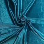 Stretch Velvet Fabric TEAL 60'' Wide by the Yard for Sewing Apparel Costumes Craft