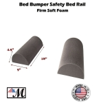 "2 Pack Bed Bumper - Child's Toddler's Safety Guard Rail 18 Inch (9""x4.5"") (1 Set)"