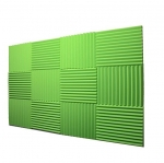 "12 Pack Acoustic Panels Studio Foam Wedges 1"" X 12"" X 12"" lime green (Hi liter Green) Fire Resistant"