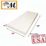 "Upholstery Foam Cushion (Seat Replacement , Upholstery Sheet , Foam Padding) (5"" x 30""x 72"", High Density)"