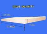 "Foam Sheet 1"" x 24"" x 54"" (High Density Firm)"