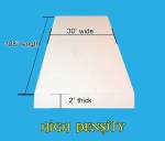 "2""x 30""x 108"" High Density Seat Foam Cushion Replacement Upholstery Per Sheet"