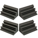 "Acoustic Foam Bass Trap Corner- 4 Pack 24"" X 12"" X 12"""