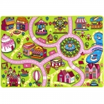 "Mybecca Kids Rug Colourful Fun Land 3' x 5' Roads Childrens Floor Play Children Area Rug Mat Playroom & Nursery (39"" x 56"")"