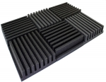 "Mybecca 6 PACK Frieze Greek Temples Acoustic Foam Tiles Soundproofing Wall Panels 36"" x 24"" x 3"", Made in USA"