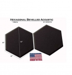 Mybecca [24 PACK] Acoustic HEXAGONAL Bevelled Tiles Soundproofing Wall Panels 1 inch by 12 inches, Made in USA