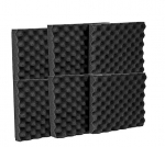 "Mybecca 6 Pack Acoustic Panels Studio Foam Egg Crate 1.5"" X 12"" X 12"""