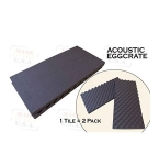 "2 Pack Acoustic Foam Egg Crate Panel Studio Soundproofing Foam Wall Tile 2"" X 12"" X 24"""