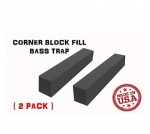 Mybecca (2 PACK) 3 x 3 x 24 Inches Acoustic CORNER BLOCK FILL Bass Trap Soundproofing & Sound Absorption Foam for 2-inch Wedges