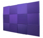 "Mybecca -12 Pack Acoustic Panels Studio Foam Wedges 1"" X 12"" X 12"" (Purple)- fire resistant"