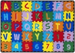 "Mybecca Kids Rug ABC Puzzle Area Rug Educational Alphabet Letter & Numbers 8 x 11-Non Slip Gel Backing Size approximate: 7' feet 2"" inch by 10' ft (7'2"" X 10')"