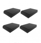 "Mybecca XL Studio Speakers Monitor Pad 2"" x 9"" x 12"" Foam Isolation Platform Recoil Stabilizer Speaker Risers, 4 Pack"