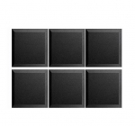 "Mybecca 6 Pack Acoustic Panels Studio Foam Bevel 2"" X 12"" X 12"""