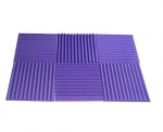 "Mybecca 6 Pack Acoustic Foam Wedge 1"" X 12"" X 12"" Studio Soundproofing Panels (6 Square Feet), Purple -Fire Resistant"