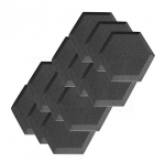 "12 Pack Acoustic Foam Studio Soundproofing Foam Tiles Hexagon 6"" X 6"" X 1"""