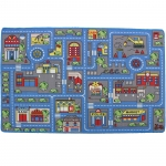 "Mybecca Kids Rug Town Map 8' X 11' Childrens Area - Street Map Non Skid Backing (7'10"" X 11'3"")"
