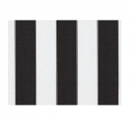 "STRIPE CANVAS AWNING FABRIC WATERPROOF OUTDOOR FABRIC 60"" (BLACK / WHTE 1, YARDS)"