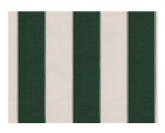 "STRIPE CANVAS AWNING FABRIC WATERPROOF OUTDOOR FABRIC 60"" ( HUNTER GREEN /WHITE 1, YARDS)"
