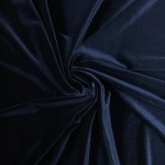 Stretch Velvet Fabric NAVY 60'' Wide by the Yard for Sewing Apparel Costumes Craft
