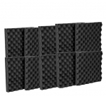 "12 Pack Acoustic Eggcrate Studio Panels Soundproofing Wall Tiles 1.5"" X 12"" X 12"""