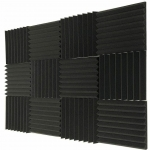 "Mybecca 12 PACK (8 Peak) Acoustic Foam Wedge Soundproofing Wall Tiles 12""x12""x1"""