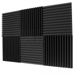 "6 Pack Acoustic Panels Studio Soundproofing Foam Wedges 1"" X 12"" X 12"""