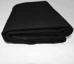 Mybecca Black 100% Cotton Muslin Fabric Textile Draping Fabric Wide: 60 inch by the Yard