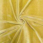 Stretch Velvet Fabric Gold 60'' Wide by the Yard for Sewing Apparel Costumes Craft