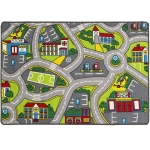 "Mybecca Kids Rug Kids City Life # 4 Area Rug Educational Alphabet Letter & Numbers 5' X 7' Childrens Area Rug - Non Skid Gel Backing (59"" x 82"")"
