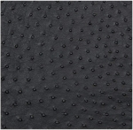 "Mybecca Black Ostrich Vinyl 54"" Wide Textured Faux Leather Great for Upholstery & Bags Sold by The Yard"